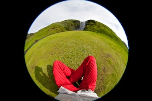 fish-eye, skogafoss waterfall, Iceland, Vytautas Serys
