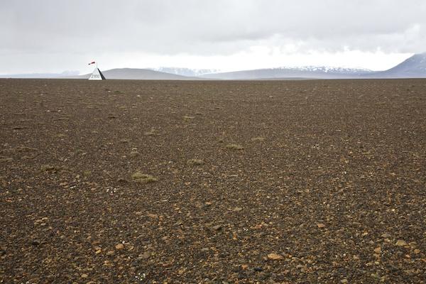 Kjölur airport and lava fields, Kerlingarfjöll, landscape, Iceland, Vytautas Serys
