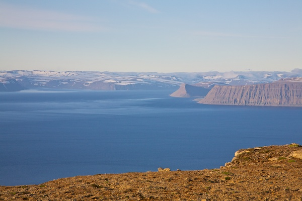 Westfjords, panorama of hornstadir peninsula, fjords, landscape, Iceland, Vytautas Serys