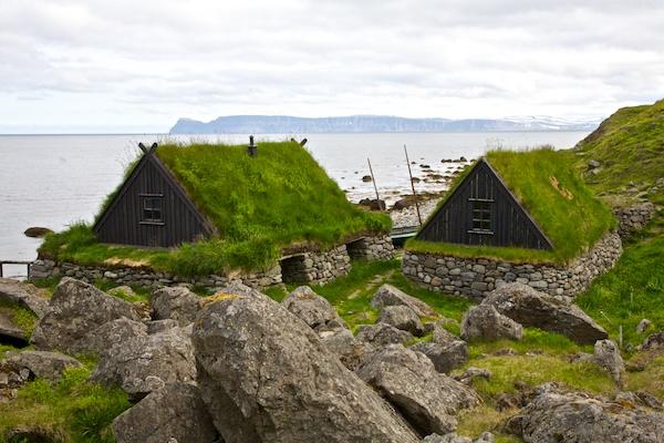Westfjords turf house, landscape, Iceland, Vytautas Serys